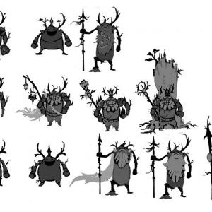 A character design experiment for a Forest troll